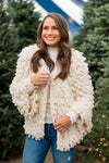 In The Snow Shag Jacket- Cream