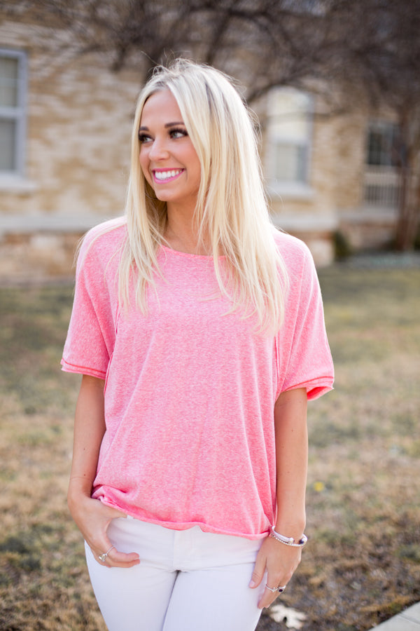 Cozy In Coral Top