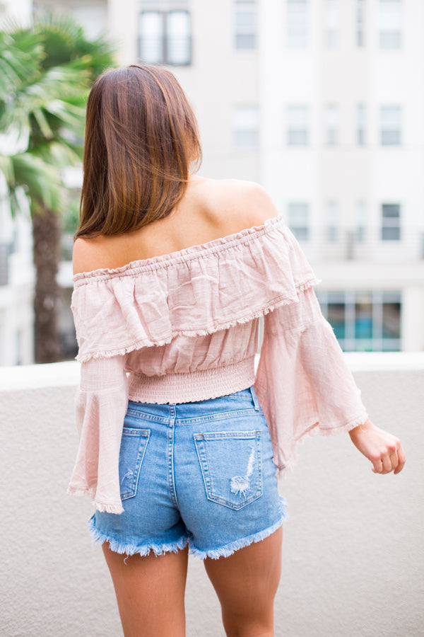 Dancing In The Dunes Top- Blush