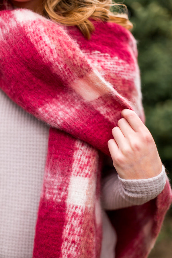 It's Cold Outside Scarf- Magenta