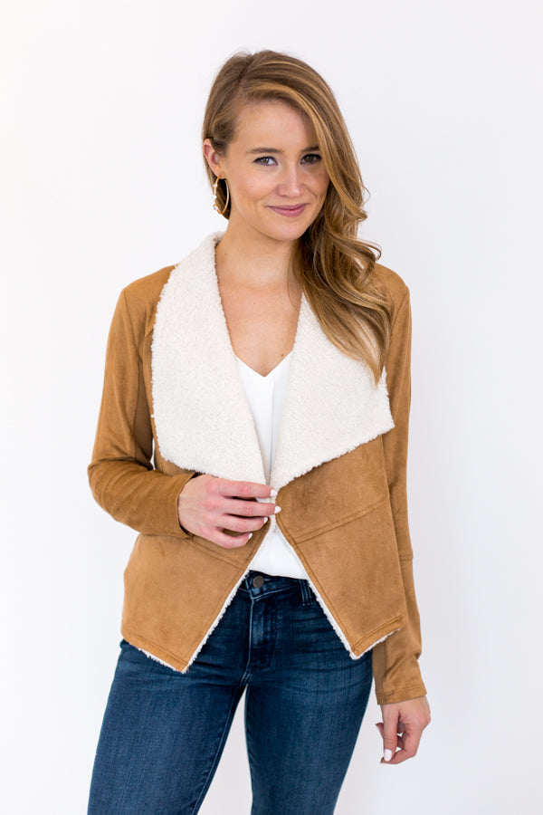 Last Christmas Suede Jacket - Camel