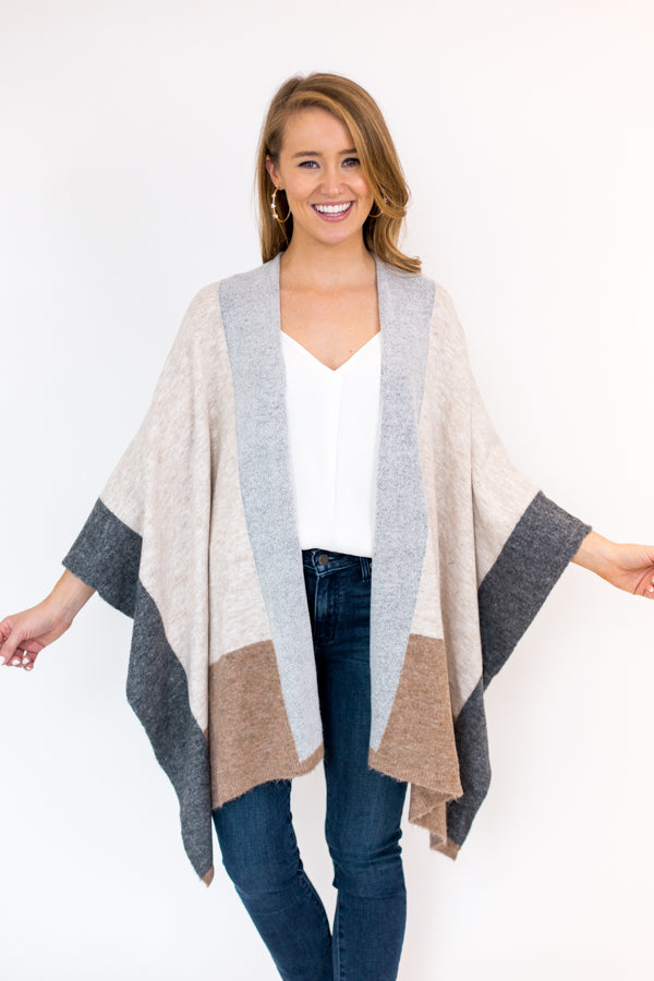 Central Park Cardigan - Neutral Multi