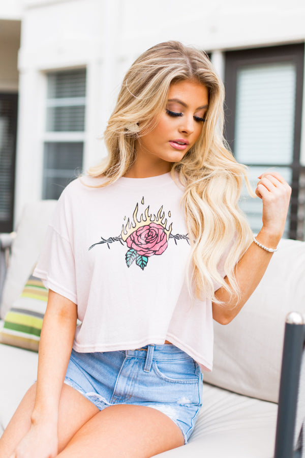 Wildfox Love Thorns Valley Tee- Quartz