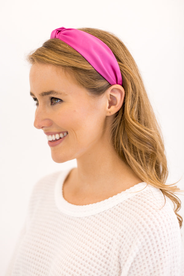 Perfectly Pink Knotted Headband