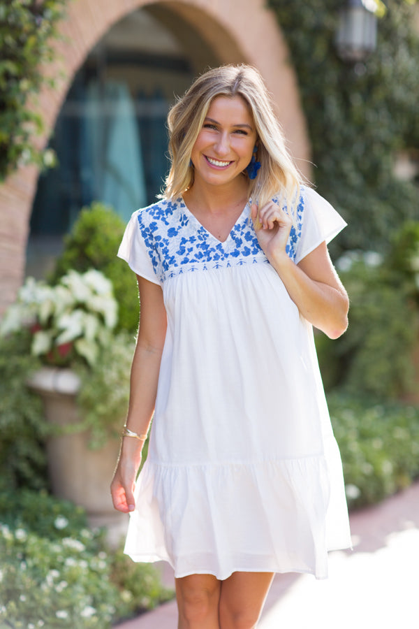 The Hannah Dress - White