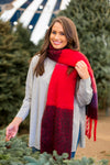 Take Me Sledding Scarf- Navy
