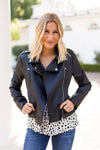 BB Dakota Leather Jacket- Black