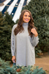 It's Tradition Turtleneck Top- Grey