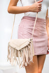 Boho Fringe Bag- Coconut Milk