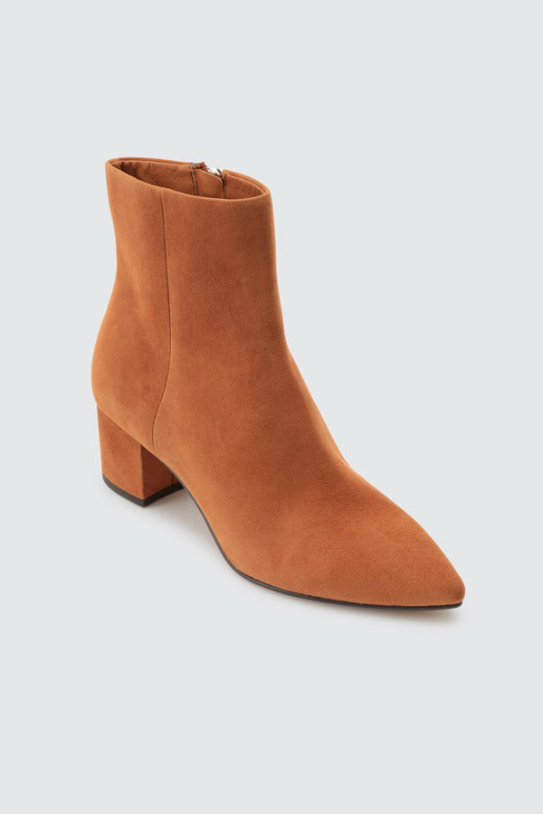 Dolce Vita Bel Booties- Brown Suede