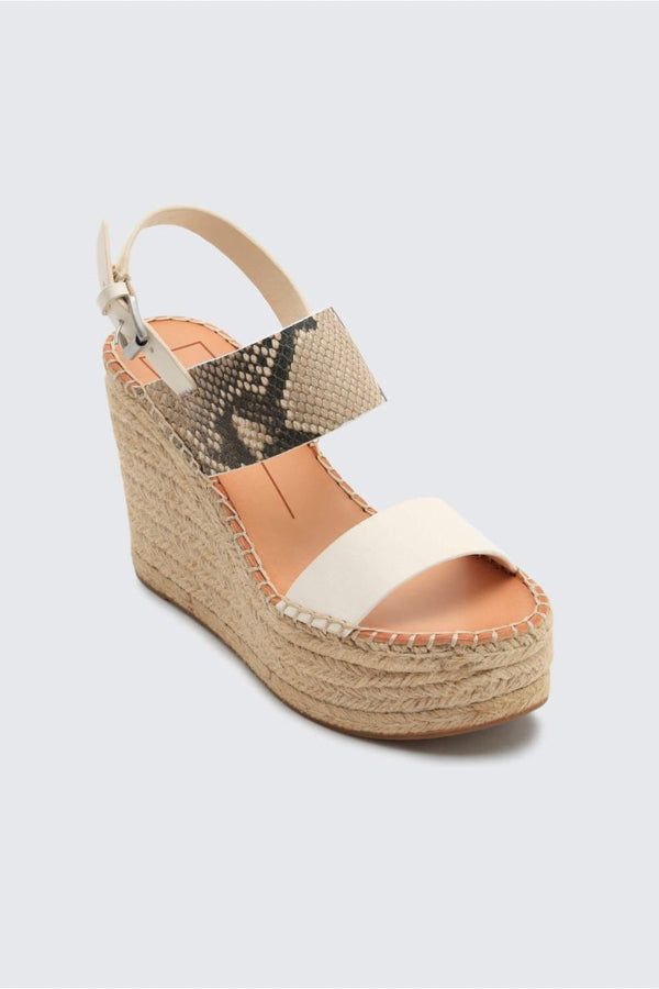 Dolce Vita Spiro Wedges- Off White Snakeskin