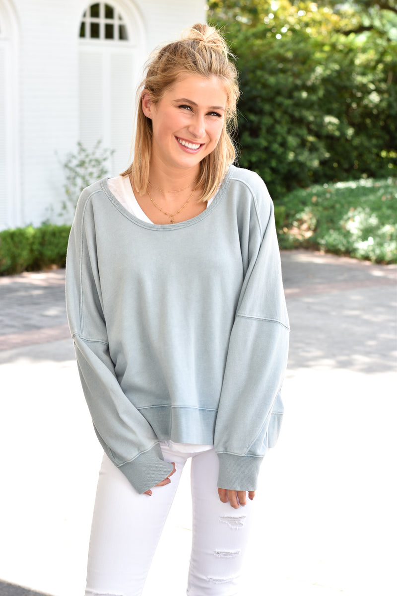 Lazy Days Pullover - Chambray