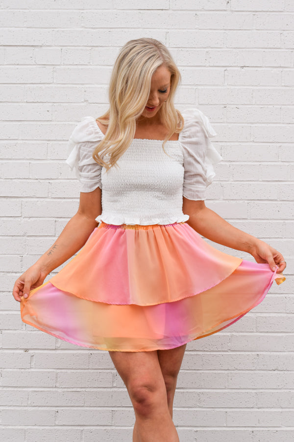 Sunset Drive Skirt - Multi