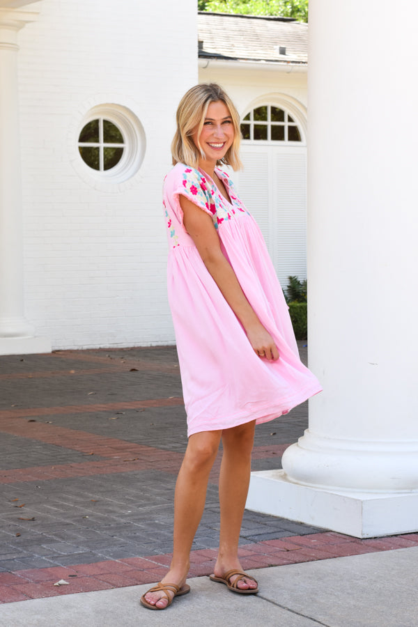 The Poppy Dress - Light Pink