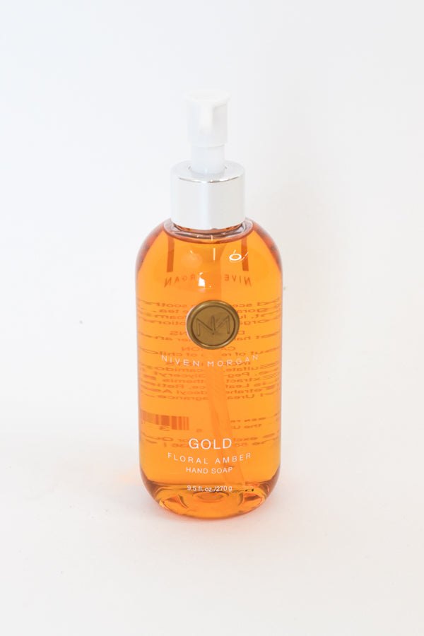 Niven Morgan Gold Floral Amber Hand Soap