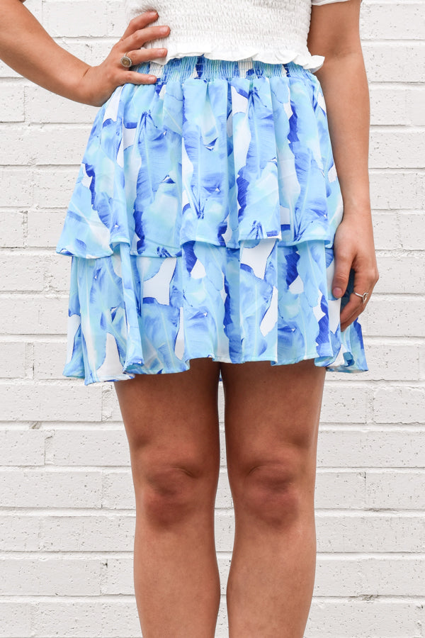 Cool Tropics Skirt - Blue Multi