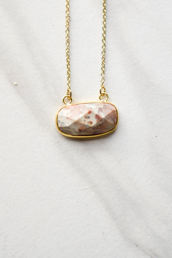 Earth Stone Necklace- Gold