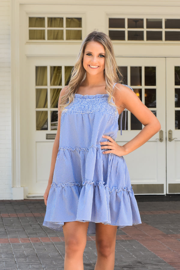 Southern Sweetheart Babydoll Dress - Royal Blue