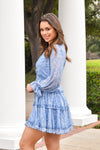 Feel The Fern Dress - Blue