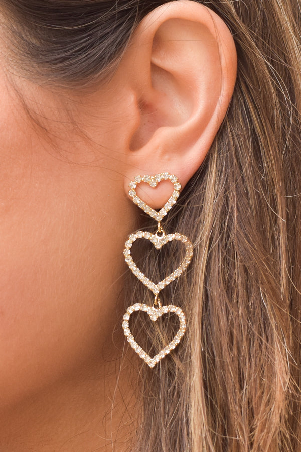 My Heart Is Yours Earrings - Gold