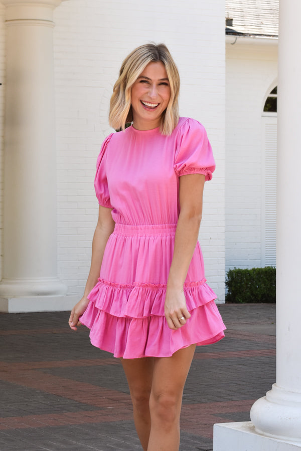 La Vie En Rose Dress - Rosebloom Pink