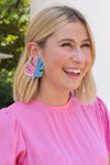 Calling Palm Springs Earrings - Pink & Blue