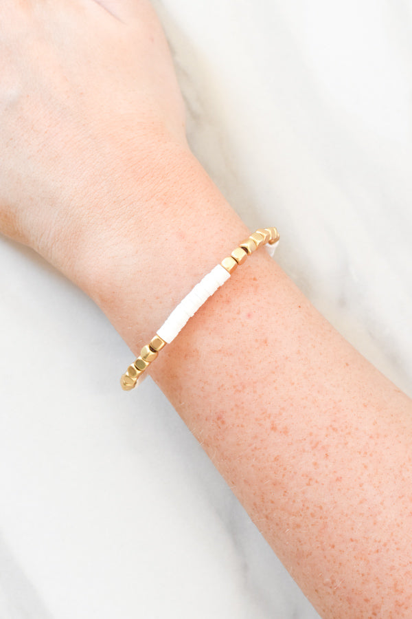 Beautifully Boho Bracelet - White