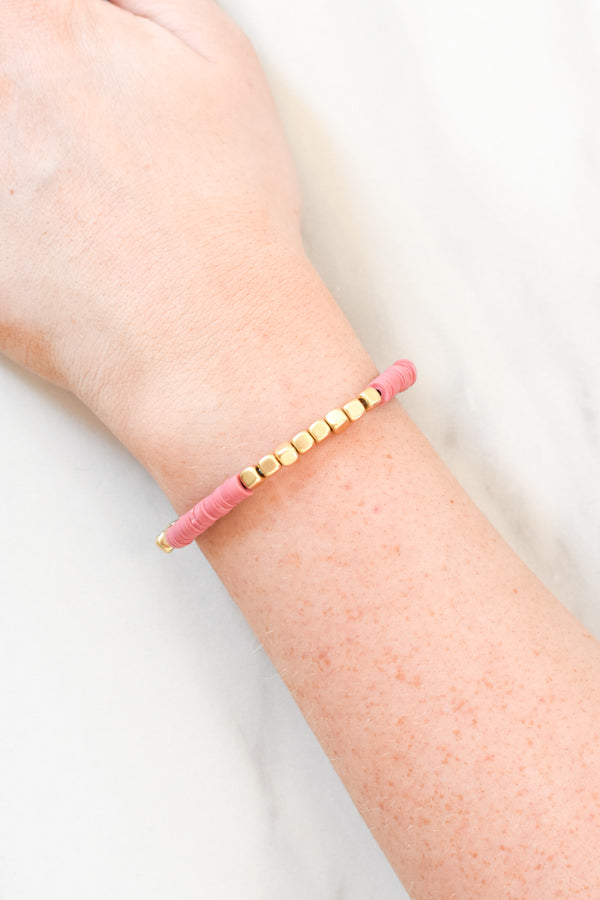 Beautifully Boho Bracelet - Pink