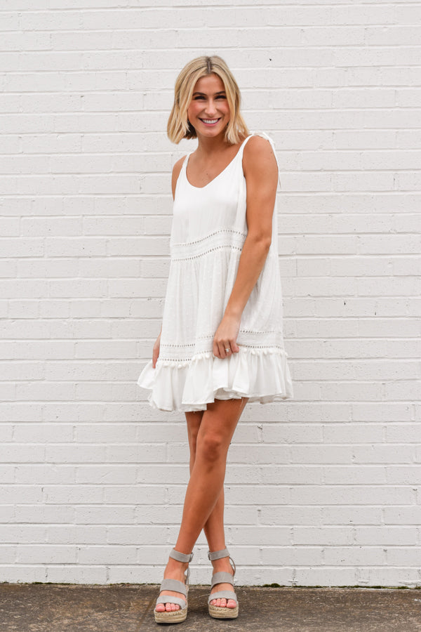 Easy As Can Be Dress - White