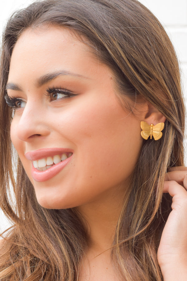 Flutter By Earrings - Gold