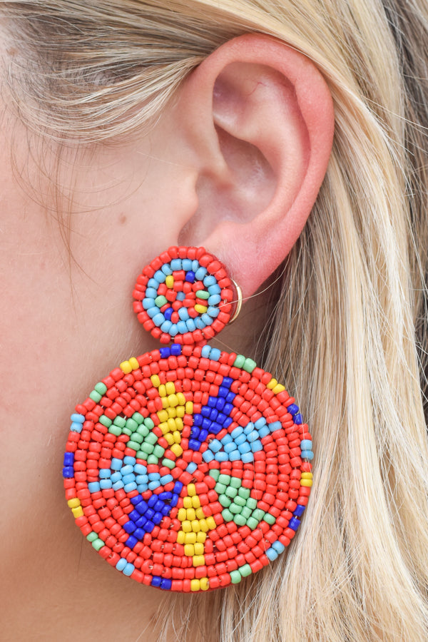In The Summertime Earrings - Red