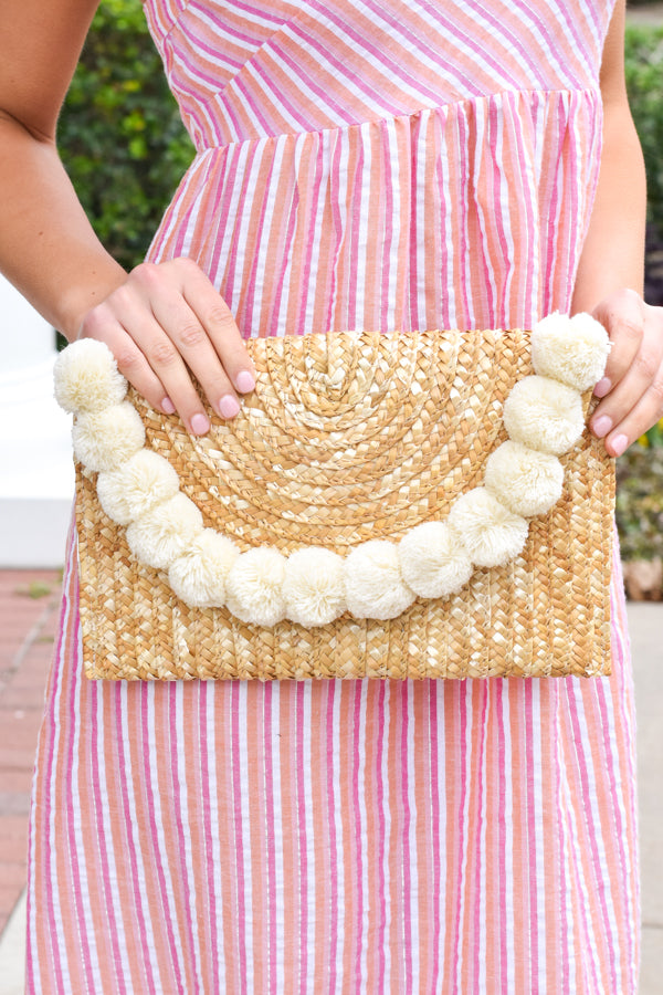 Cute Coastal Clutch - White