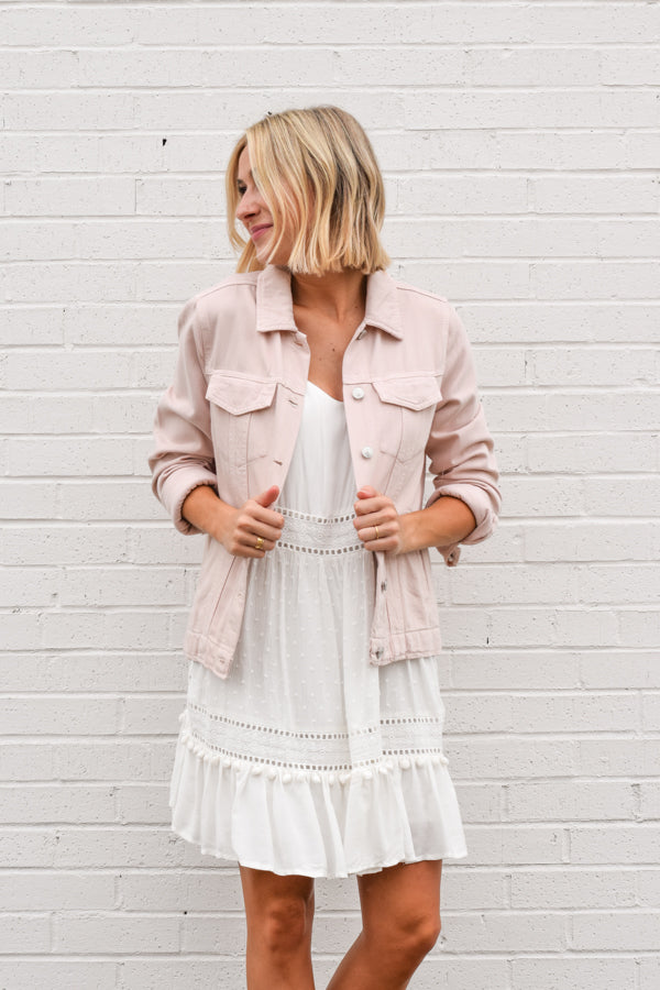 Lightweight Denim Jacket - Blush