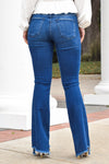 Flying Monkey Bell Bottom Jeans - Dusty Blues