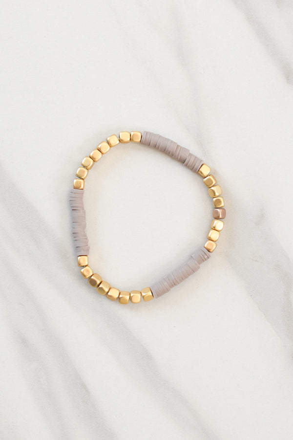 Beautifully Boho Bracelet - Grey