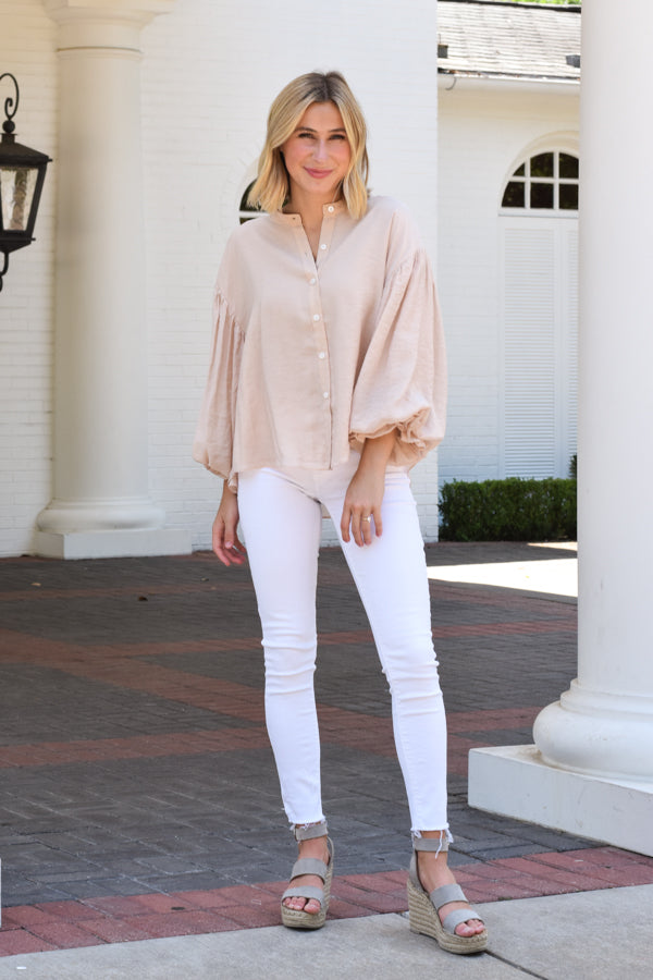 Light As A Feather Top - Blush