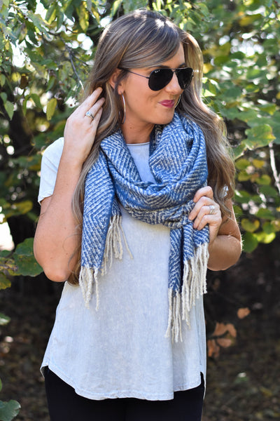 Play Along Blue Multi Scarf