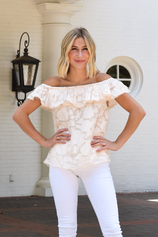 Simple Romance Top - Cream