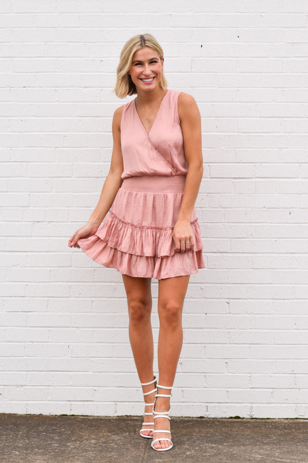 Look My Way Dress - Dusty Pink
