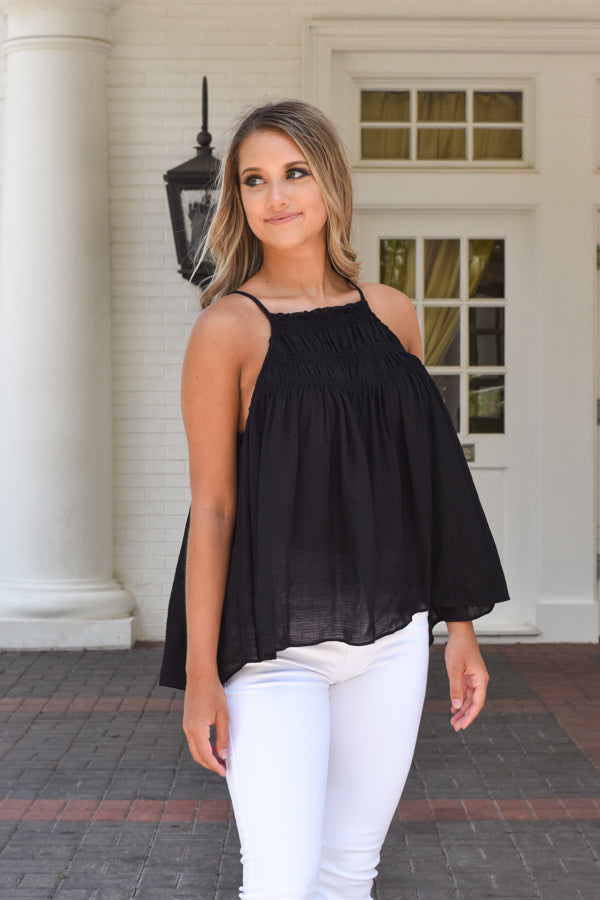All In The Details Top - Black