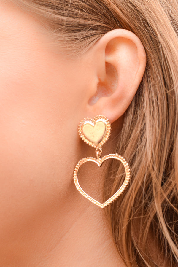 Spread The Love Earrings - Rose Gold