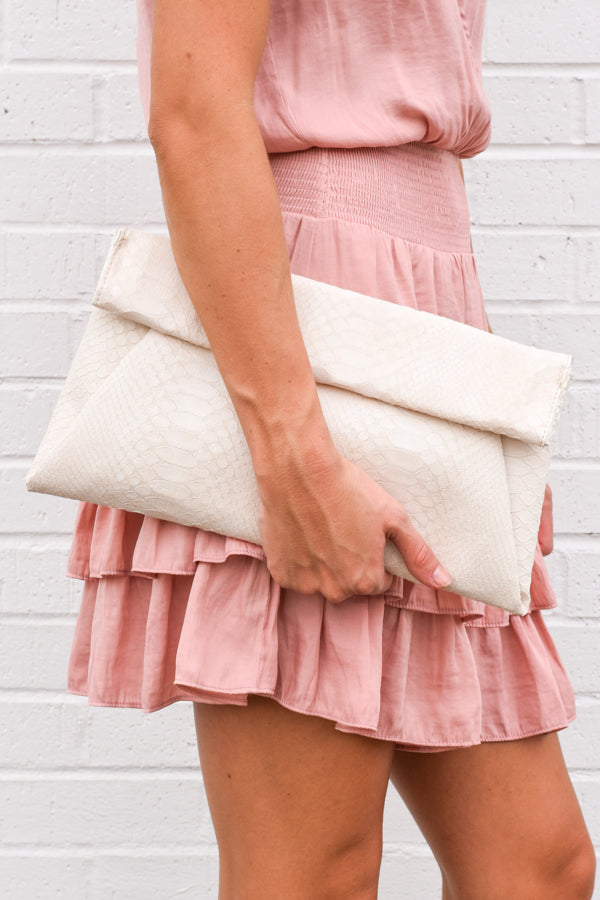 Plus One Clutch - Cream