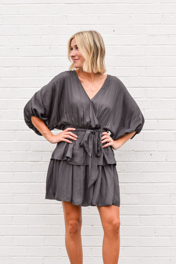 Feel The Flow Dress - Charcoal