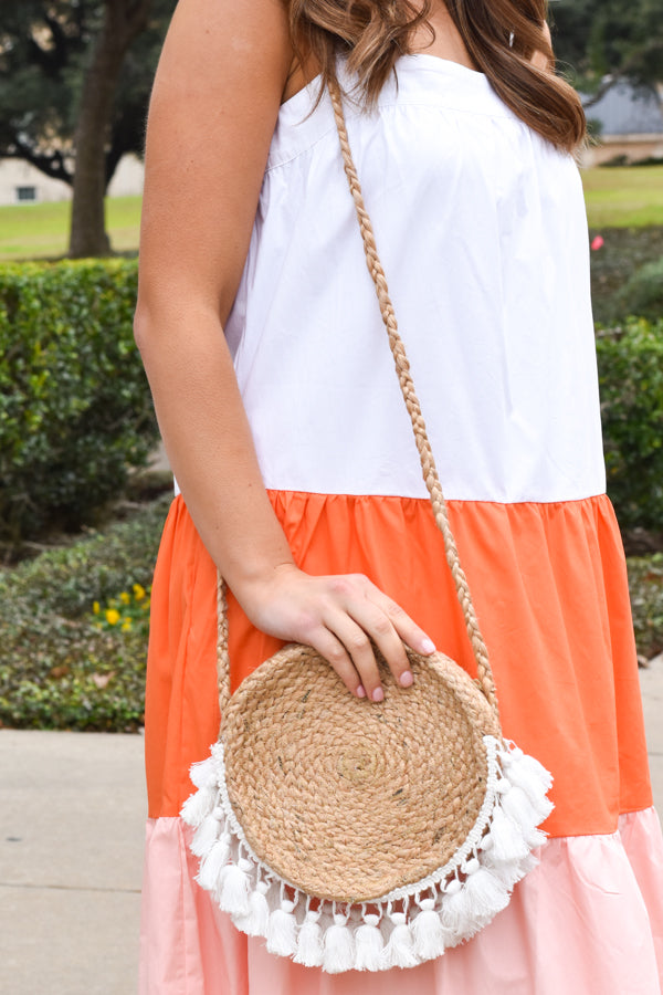Bonfire On The Beach Bag - White Tassel