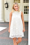 All Laced Up Dress - White