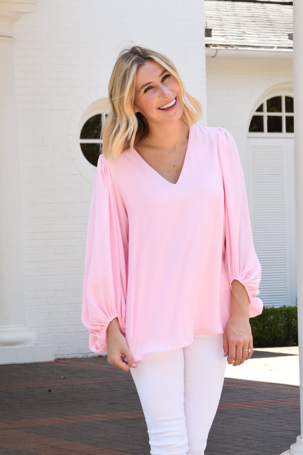 Double Bubble Top - Petal Pink