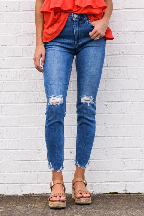 Say It Ain't Soho Skinny Jeans - Medium Wash