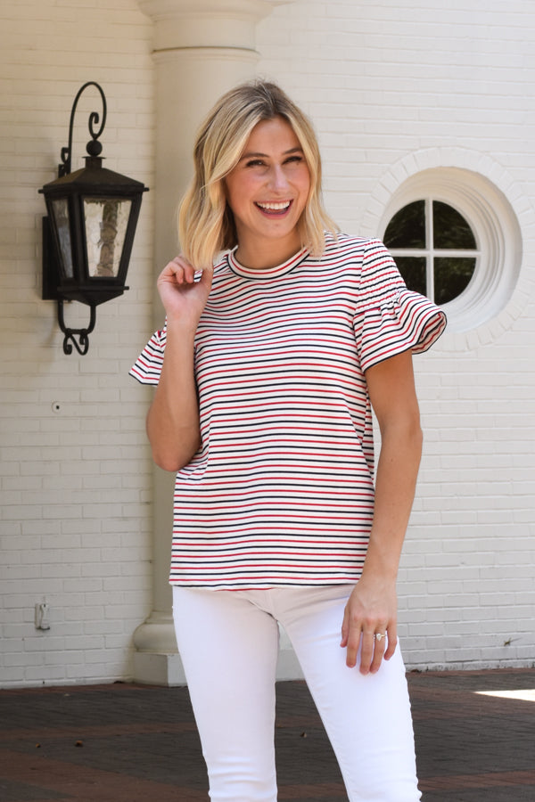 Red, White & You Top - Stripes