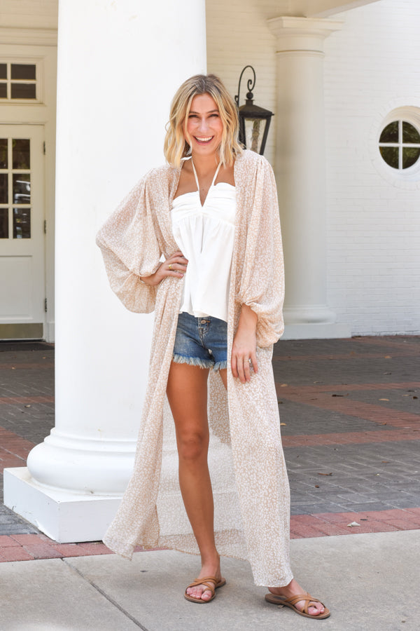 Easy Going Duster - Taupe