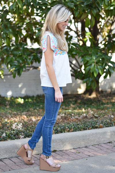 Too Cute! Embroidered Top